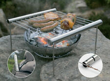 Grilliput Camping Gear Durable stainless construction. Folds down and fits insid