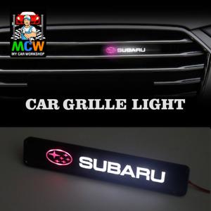 Subaru Impreza WRX STI Liberty XV BRZ Forester JDM Front Grill LED Emblem Light
