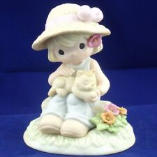 """Precious Moments August """"Poppy Peaceful"""" Figurine, Retired"""