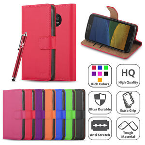 For Motorola Moto G5 Phone Case Luxury Magnetic Flip Wallet Leather Stand Case