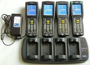 4 x Honeywell LXE MX8 HHT Barcode Scanner and Battery Charger
