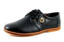 V Fashion Mens UK 12 EU 47 Black Faux Leather Lace Up Smart Casual New Shoes