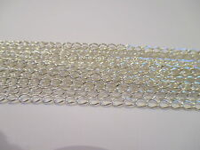 UK Jewellery 10m Plata Plateado Colgante Collar de cadena 5x3mm Medallón bordillo