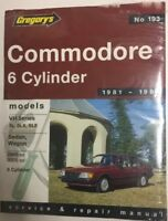 Commodore 6 Cylinder VH Series 1981-1984 Gregory's Service & Car Repair Manual