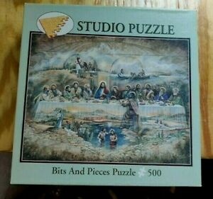 RARE 500 PCE BITS & PIECES JIGSAW PUZZLE - THE LAST SUPPER