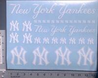 31 New York Yankees Script Decal Stickers Windows Laptops Helmets Phones