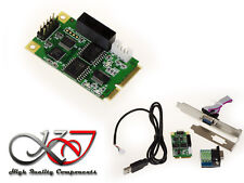 Carte MiniPCIe mPCIe - RS232 RS422 RS485 - Mini PCI Express - FULL SIZE