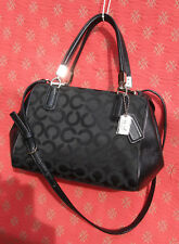 COACH Op Art MADISON Op Art Mini Satchel Crossbody Black Sateen 49977 $198