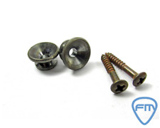 Set of 2 Strap pins Gotoh - Fender Style - Nickel Relic Aged