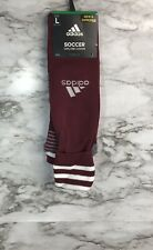 Adidas Copa Zone Soccer Socks Burgandy Mens Large 9-13 Unisex New