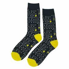 NWT Arcade Game Dress Socks Novelty Men 8-12 Black Fun Sockfly