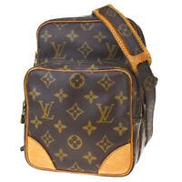 Auth Louis Vuitton Amazon Shoulder Bag Monogram Leather Brown M45236 82MF009