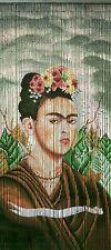 Kitsch Kitchen Türvorhang Bambus Bambusvorhang Frida Kahlo 90 x 200 Tür Deko