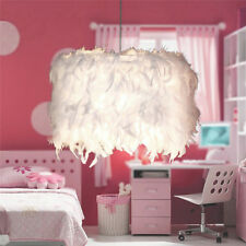 Romantic Dreamlike Feather Shade Droplight Lamp Bedroom Xmas LED Ceiling Light