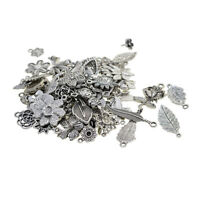 Lots Bulk Tibetan Silver Pendant Charms 100 Gram for Jewelry Making Crafting