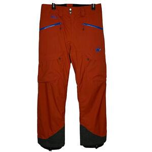 Mammut Stoney HS Men's Ski Snowboard Pants Size 36 Drytech Premium $299 EUC
