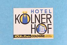 VINTAGE HOTEL KOLNER HOF COLOGNE GERMANY LUGGAGE LABEL STICKER DECAL UNUSED