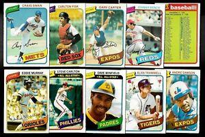 1980 OPC 80 O PEE CHEE TOPPS MLB BASEBALL CARD 1-125 SEE LIST