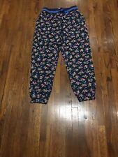 Johnnie B Mini Boden Girls Navy Floral Sweatpants Side Pockets Sz. 11-12 Y