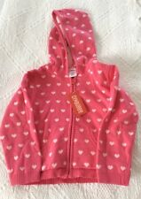 NWT Gymboree TRES CHIC Pink Hearts 💕 Zippered Cotton Sweater Size 4T