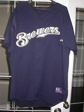 Milwaukee Brewers Game Used 2005 Baseball BP MLB Jersey - Russell Branyan