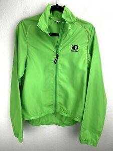 Pearl Izumi Jacket Full Zip Green Size M Medium Windbreaker 4771 Cycling