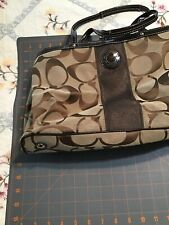 Coach handbag Medium pre-owned Tan Logo