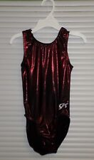 GK Elite Dance Gymnastics Leotard Black RED Size CM Nylon