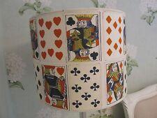 Handmade Drum Lampshade Andrew Martin Stunning Croupier Playing Card fabric 30cm