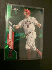 ALBERT PUJOLS  ☆2020☆ Topps Chrome GREEN WAVE REFRACTOR (# /99) ANGELS