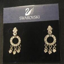 Swarovski Beautiful Bridal  Earrings GENUINE CRYSTAL, 14K Gold Posts