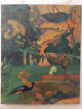 PAUL GAUGUIN PRINT - VINTAGE ANTIQUE LITHOGRAPH - MATAMOE - 1899 - PEACOCKS