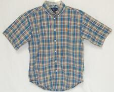 POLO RALPH LAUREN Kids Boys Madras Plaid S/S Button Down Shirt Size M (12-14)