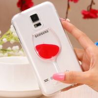 Liquid 3D Wine Glass Cocktail Bottle Phone Case Cover For iPhone 5 6 6s 7 Plus