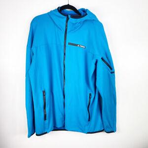 Adidas Men's Blue Athletic Sportswear Fleece Lined Full Zip Hoodie Jacket XL