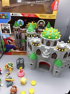 Brand New in Box BNIB Nintendo Bowsers Castle Super Mario Deluxe Castle Play Set