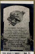 Sigismondo Ciccarelli Ricordo marmoreo WWI PC Circa 1914