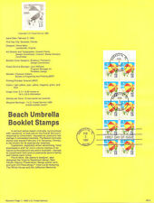 #9005 15c Beach Umbrella Booklet #2443a USPS Souvenir Page