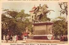 Caracas Venezuela Plaza Bolivar Monument Antique Postcard J47822