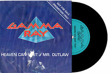 "GAMMA RAY - HEAVEN CAN WAIT - RARE PROMO 7"" 45 VINYL RECORD PIC SLV 1990"