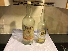 Large Vintage Bells Whisky Bottle 4.5l Great Coin Jar + Smaller Long John Bottle