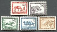Austria. Austria Prize Race Fund Stamp Set. SG986/90. 1946. MNH. (L158)