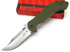 KERSHAW EMERSON OD Green CQC-10K Straight BOWIE Blade Folding Pocket Knife! 6030