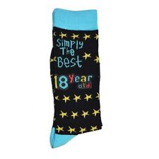 18th Birthday Gifts Simply The Best Socks Polyester Adult Size