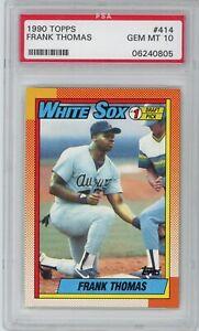 1990 Topps Frank Thomas RC Rookie #414 Graded PSA 10 Gem Mint White Sox HOF