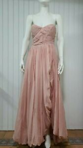 AJE Justinian Dress in Dusty Pink Size 10 - Strapless