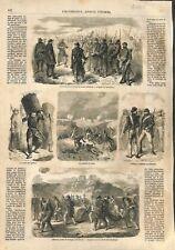 Uniformes Armée d'Orient Guerre de Crimée corvée des gabions ILLUSTRATION 1857