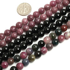 """Natural Tourmaline Gemstone Round Beads For Jewelry Making 15"""" Assorted Colors"""