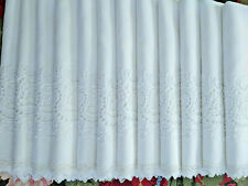 """12 Lovey Antique Napkins White Linen Filet Lace Embroidery Cutwork 22"""" x 22"""""""