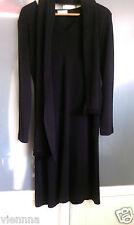 Kleid mit Schal 40 schwarz Strick aus den USA Strickkleid